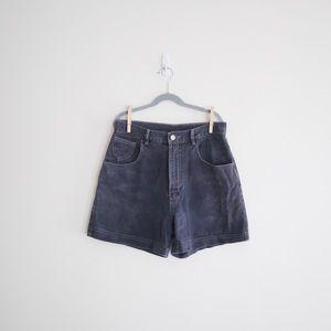 Vintage London High Rise Distressed Jean Shorts